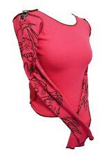 Spanki Top Pink Dragon Sleeved Long Sleeved Deadstock K2K  Emo S