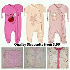 Baby Sleepsuit Babygrow  Romper Long Sleeve NB FS TB 0 3 6 9 12 18 24 Months