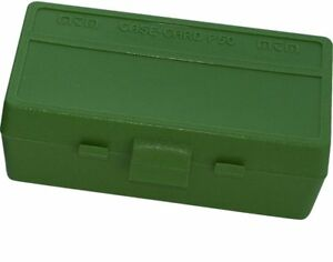 38 / 357 Ammo Box Green 50 Round (Quantity 1) Buy 5 Get 1 Free (MTM)