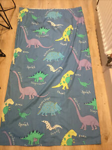 Laura Ashley (next) Dinosaur Curtains Blue Green Boys Bedroom Lined Pair