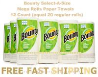 Bounty Select-A-Size Mega Rolls Paper Towels, 12 Count (equal 20 regular rolls)