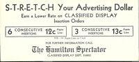 Vintage Hamilton Spectator Ink Blotter Newspaper Ontario Canada