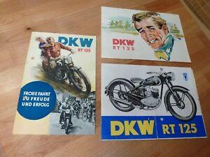 DKW RT 125    4 verschiedene DKW RT 125 Prospekte