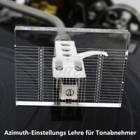 Turntable Acryl Azimuth Einstellungs Lehre Schablone für Tonabnehmer Headshell