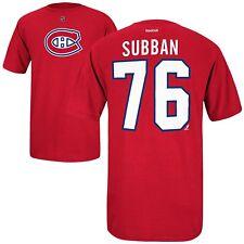 NHL T-Shirt Montreal Canadiens P.K. Subban 76 rot Name Number Eishockey Trikot