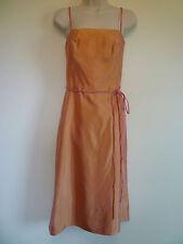 Womens L 14 peach pink lined spaghetti strap formal homecoming bridesmaid dress