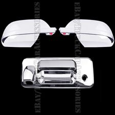 Chrome Covers For TOYOTA Tundra Crew Max 2014-2017 Full Mirrors +Tailgate Camera