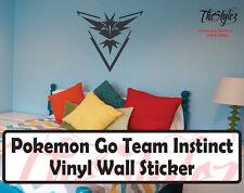 Pokemon Go Team Instinct Wall Vinyl Sticker