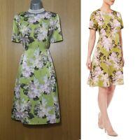 BNWT EASTEX Peony Print Short Sleeves A Line Flattering Dress UK10 EU38 rrp£129