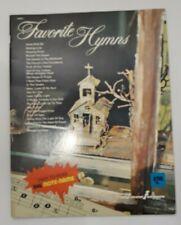Vintage 1976 Golden Music Big Note Publication FAVORITE HYMNS + Keyboard Chart
