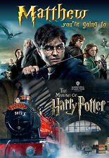 Harry potter Studio Tour Present Christmas Card Gift FREE P+P Any name