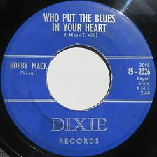 Rockabilly 45 tr/min ~ ~ Bobby Mack on DIXIE ~ ~ RARE Bopper!