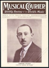 Armand Vecsey photo Musical Courier framing cover May 2 1918