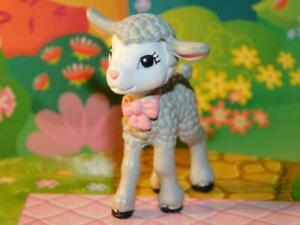 Dollhouse Miniature Pink Baby Lamb figurine fits Loving Family Dollhouse Dolls