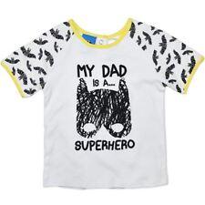 Childs size 2 MY DAD IS A  SUPERHERO T-shirt NEW  18-24 mths BATMAN boys girls