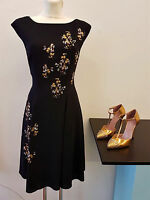 NEU PRADA Kleid schwarz mit Pailletten D38 F40 I42 black dress sequined ID3881