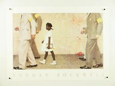 """Norman Rockwell, Problem We All Live With, Ruby Bridges, Desegregation ~ 27x19"""""""