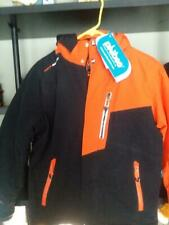NWT Phibee Kids Outdoor Skiwear Jacket Waterproof Insulated Pockets Orange