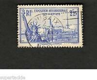 1939 FRANCE SCOTT #372  INTERNATIONAL EXHIBITION  Θ used stamp