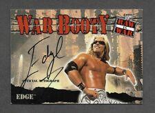 Edge 2001 Fleer War Booty Autograph Auto WWE Wrestling Raw is War Signed Rookie