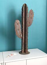 Faux Plant: on trend artificial Cactus Plant, metal 72cm high