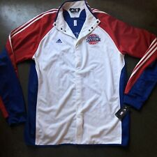 NWT Men's Adidas Clima365 Detroit Pistons Team Issued Warm Up Jacket Sz 2XL +4""