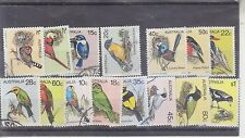 AUSTRALIA-1979/1980-3 X DEFINITIVE BIRD SETS-USED-$4.50 freepost