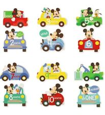 New 12 Count Disney Baby Mickey Mouse First Year Milestone Belly Stickers.