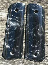 Black Pearl 1911 Grips Colt Kimber Remington Sig Taurus Springfield Full Size