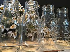 Set of 6 Dairy Farmhouse Milk Drinking Glasses for Wedding Vintage Party Rustic