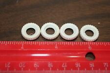 Four (4) White W/ treads replacement rubber tires for Tootsietoy Dinky, 15mm
