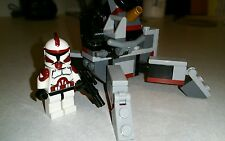 Lego Star Wars Custom Commander Fox Clone Wars with Lego Cannon set
