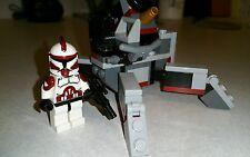 Lego Star Wars Custom Commander Fox Clone Wars with Lego Cannon set