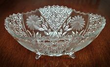 """Exquisite American Brilliant Period Large Footed Cut Glass Bowl - 11 1/4"""""""