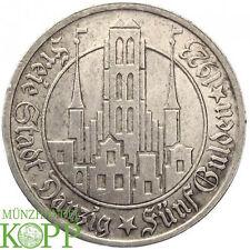 AA124) J.D9 FREIE STADT DANZIG 5 Gulden 1923 - Silber