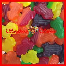 FRUITY FROGS COLOURFUL LOLLIES SOFT GUMMIES Candy Buffet 1KG HALLOWEEN LOLLIES