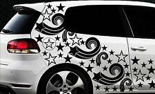 93 Sterne Star Auto Aufkleber Set Sticker Tuning Fee Stylin WandtattooTribel xx