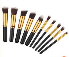 Pro Makeup 10pcs Brushes Set Eyeshadow Eyeliner Lip Brush Powder Foundation Tool