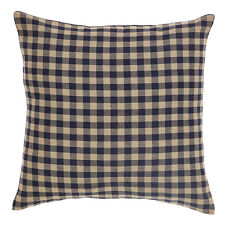 "NAVY CHECK FABRIC ACCENT PILLOW WITH PILLOW FILL 16X16"" NAVY / KHAKI CHECK"