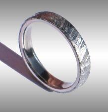 CUSTOM MADE GIBEON METEORITE RING WEDDING BAND JEWELRY STYLE #031 IN PLATINUM!