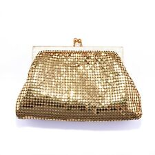 Vintage 1950's Whiting and Davis Gold Mesh Evening Purse Clutch Bag Bride Bridal