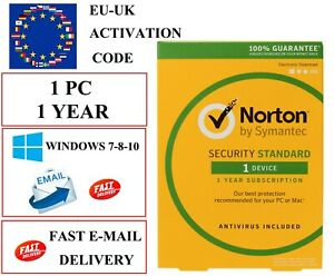 Norton Internet Security Standart 1 Year 1 PC LICENSE KEY(EMAIL DOWNLOAD)