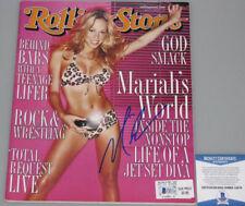 MARIAH CAREY Hand Signed Rolling Stone Magazine +PSA BECKETT COA *BUY GENUINE*