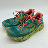 Hoka One One Clifton 1 Women's Running Shoes Blue Yellow Coral Size 6.5
