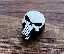 Skull shaped Titanium Parachute Cord Knife Tool Lanyard Beads 6mm hole LB116