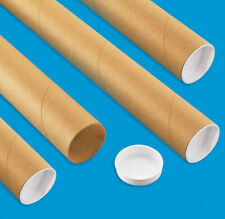 "4 Mailing Tubes with End Caps (2"" x 30"") Shipping Poster Artwork Print Packing"