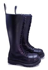 Grinders Dr. Martens Doc Black 20 Eye King Steel Toe Boots UK 4 US 6