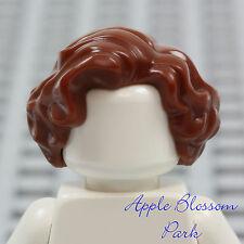 NEW Lego Female Minifig Short BROWN WAVY HAIR -Girl Friends Curly Curl Head Gear