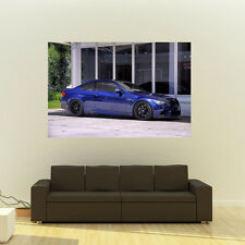 BMW E92 M3 Blue Right Side Giant HD Poster Huge 54x36 Inch Print 137x91 cm