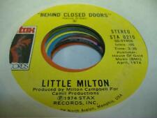 Soul 45 LITTLE MILTON Behind Closed Doors on Stax